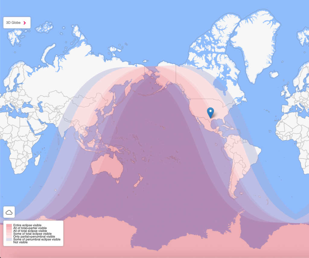 Lunar Eclipse Map May 2021